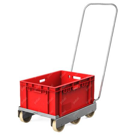 Тележка грузовая на колесах для ящиков